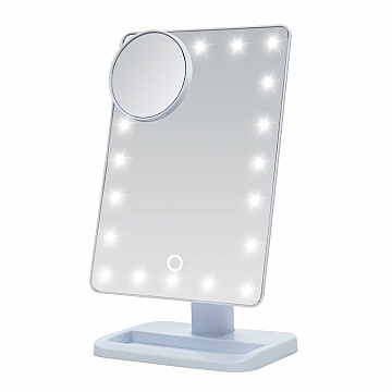 Makeup Mirror LED with attachable 5x magnification