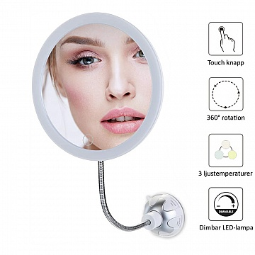 Vanity Flexi LED Mirror 10x with suction cup