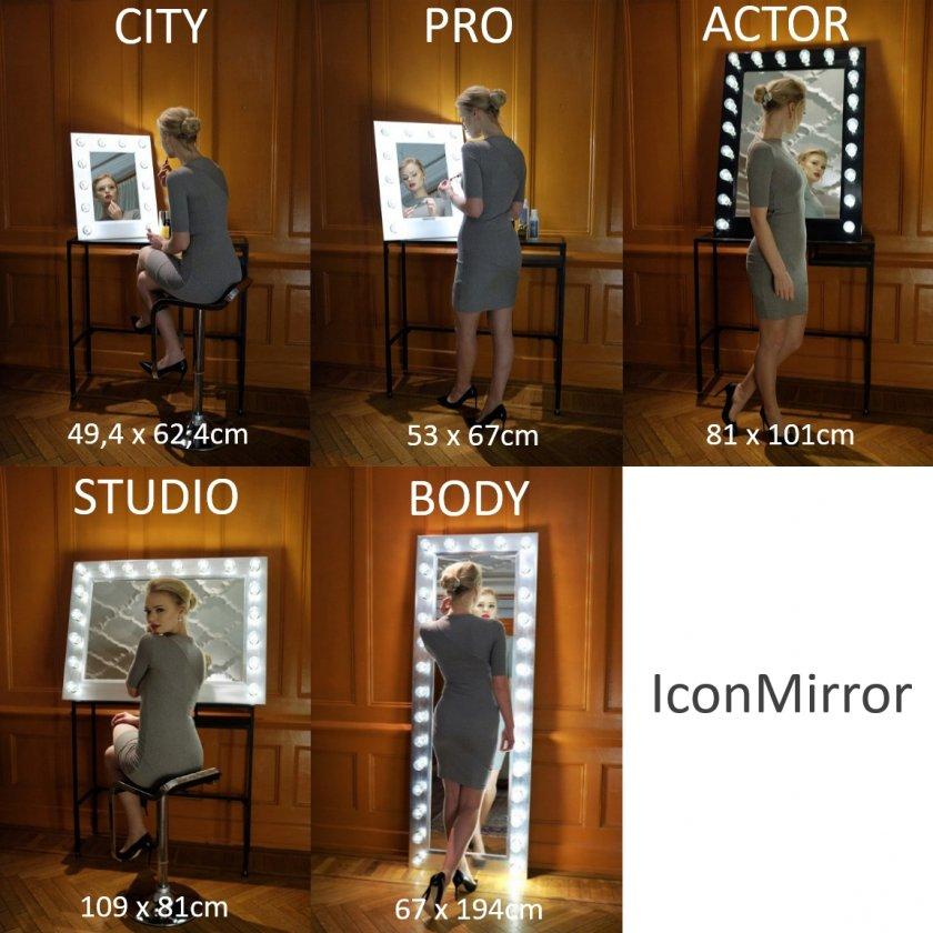iconmirror makeup mirror sizes city pro studio actor body walk in closet